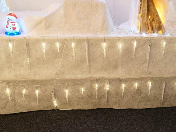 Snow Motion Eiszapfenlichterkette 40 warmweisse LED Zapfen 130 LED