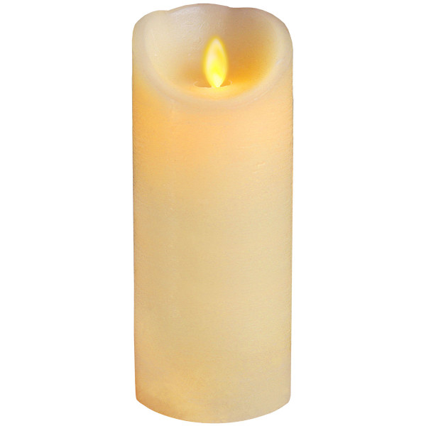 Twinkle-Star Wachskerze, LED Flackerlicht, Ø 8, H20 cm, elfenbein