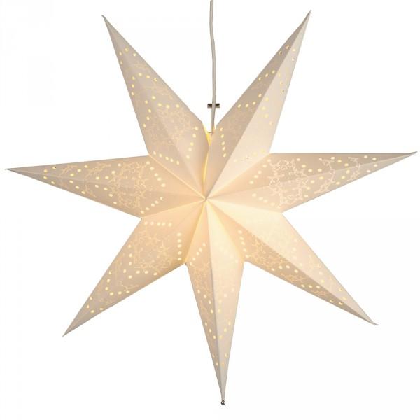 Weihnachtsstern Sensy Ø 54 cm weiss, aus Papier, indoor