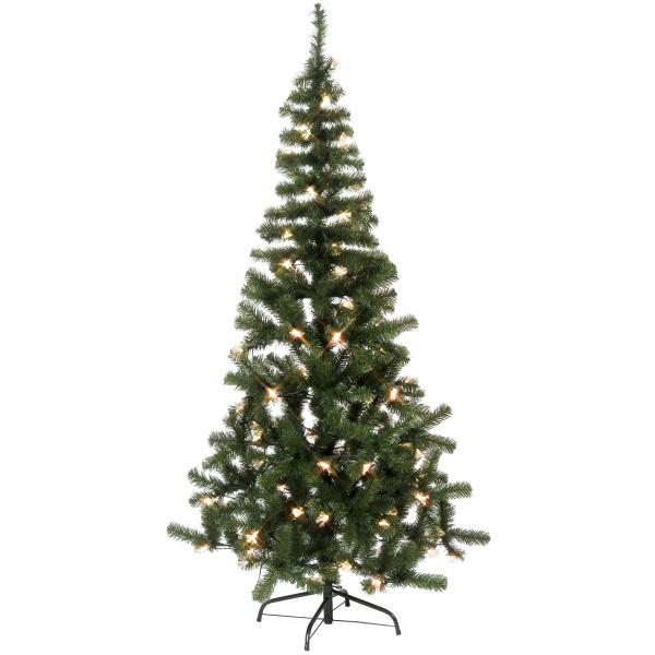 Weihnachtsbaum Alaska Fiberoptik, H180, Ø96cm, 110 warmweisse LED