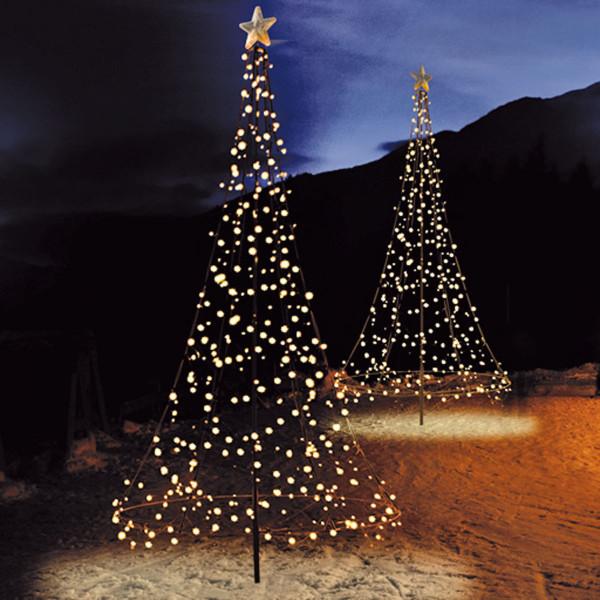 Fairybell Weihnachtsbaum H300cm, 480 LED, mit Mast und Bodenanker