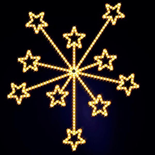 Weihnachtsstern Fireworks 150, H150, B130cm, warmweiss, Wandmontage
