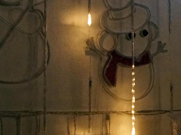 Long Motion Tube Curtain 120 warmweisse LED 6x35, 2x100cm ausbaubar