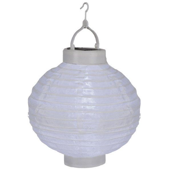 Weihnachtsbeleuchtung Akku.Solarlampion Weiss 1 Led Kaltweiss Solarpanel Akku Montagehaken