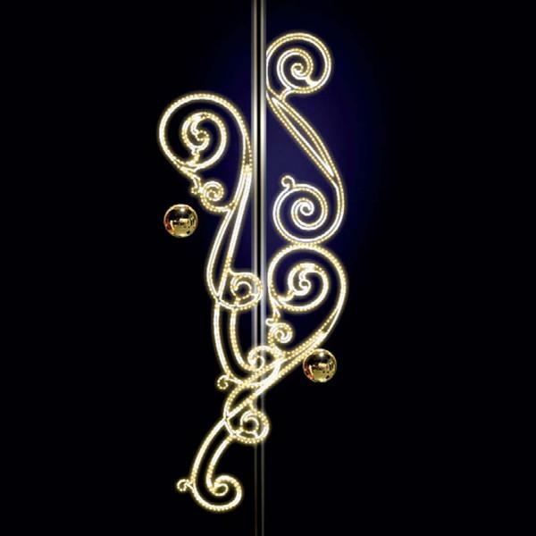 Weihnachtsbeleuchtung Anastasia H300, B120, L120cm, warmweiss, 3D, Pfostenmontage