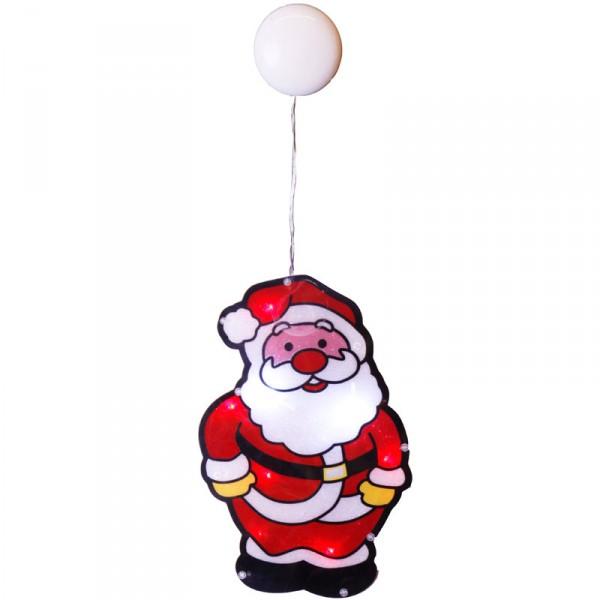 Fenstersilhouette Weihnachtsmann LED 28 x 18cm, batteriebetrieben, 8 LED