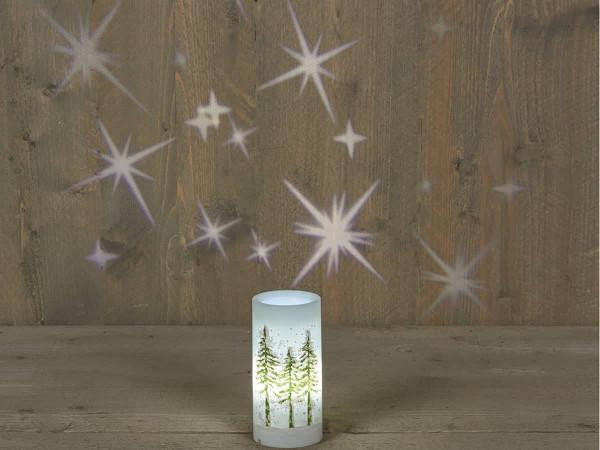 Weihnachtslampe Projektor mit Sternen indoor