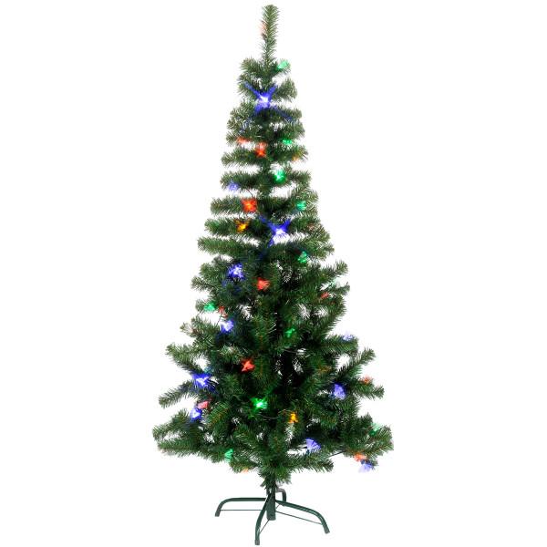 Weihnachtsbaum Alaska Fiberoptik, H150, Ø80cm, 72 bunte LED