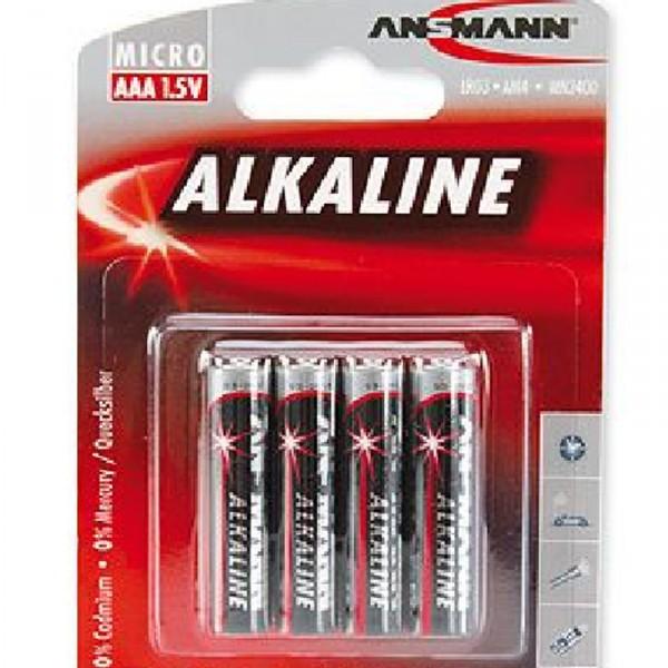 Batterie 4 Stück, Typ AAA LR03, nicht wiederaufladbar