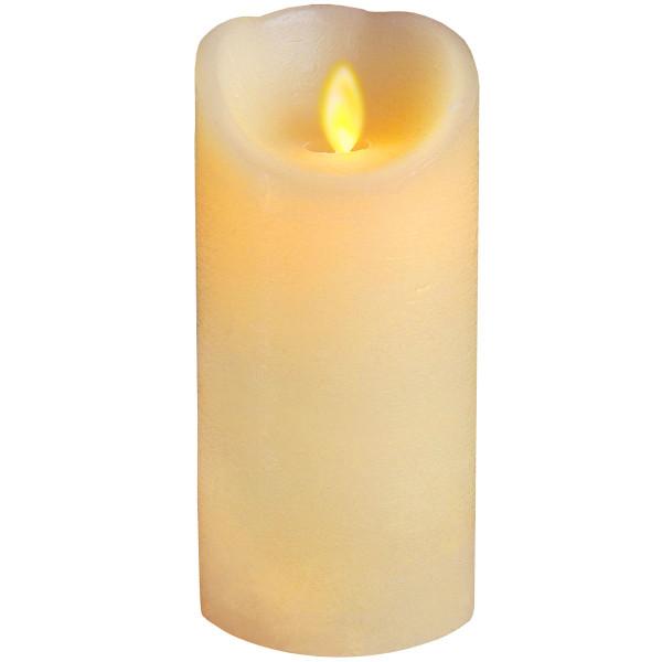 Twinkle-Star Wachskerze, LED Flackerlicht, Ø 8, H17.5 cm, elfenbein
