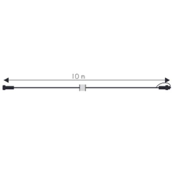 Verbinder Kabel, 1000cm, max 1800W, weiss