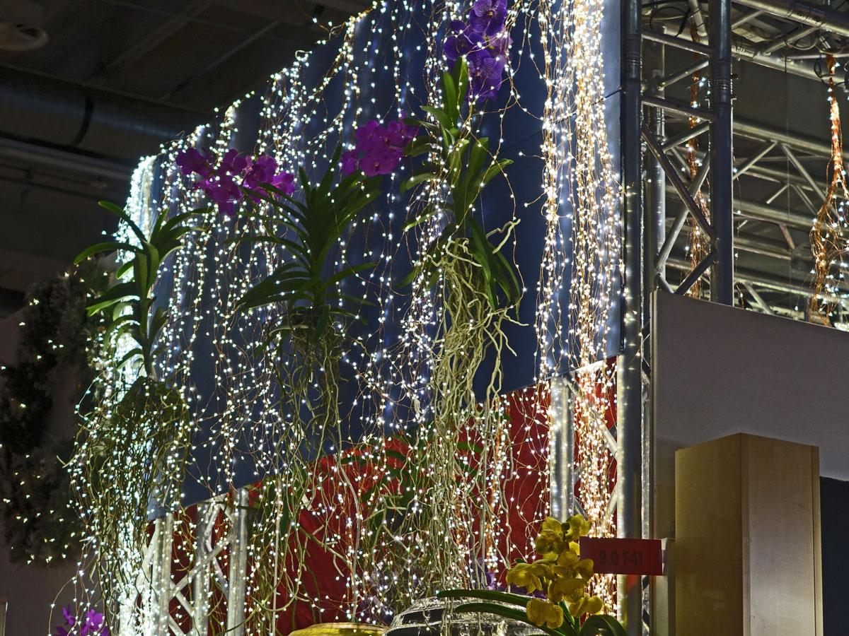 Kaskadenlichterketten sehen aus wie ein Wasserfall