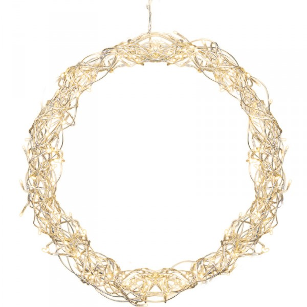 Kranz Curly Ø 50 cm, 136 warmweisse LED