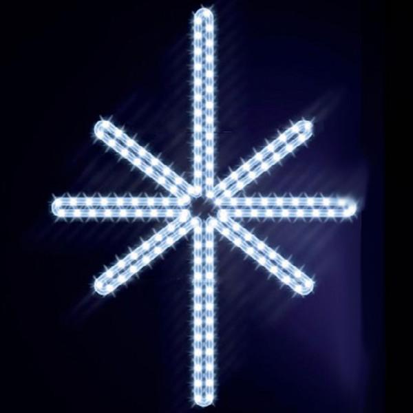 Leuchtstern Ardis 100, H100, B80cm, kaltweiss, Wandmontage