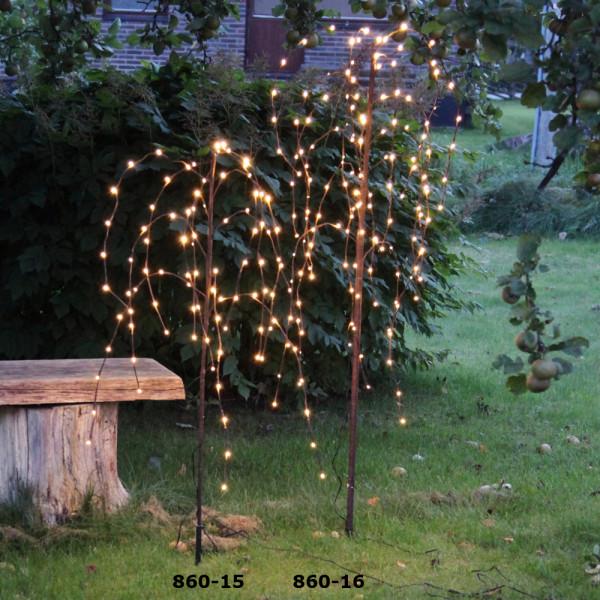 Weidenbaum, braun, Höhe 150 cm 144 LED warmweiss, outdoor