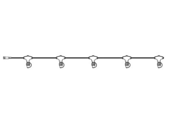 System 24 LED Stem-Kabel mit 5 Abgängen Extra, 1500 cm
