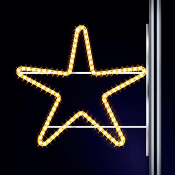 Leuchtstern Star 70, H70, B100cm, warmweiss, Kandelaberlichter, Pfostenmontage