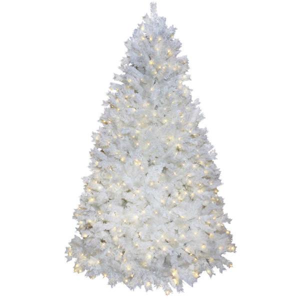 Weihnachtsbaum Ontario weiss H225, Ø140cm, 620 warmweisse LED
