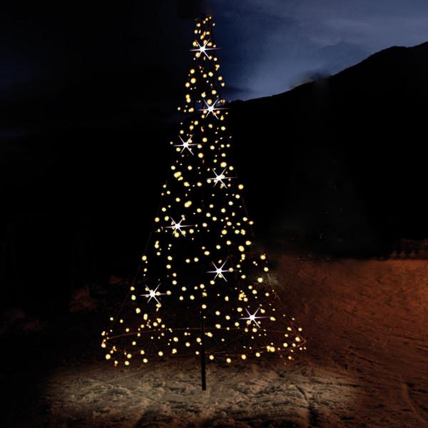 Fairybell Baum H300cm, 480 LED, 18 blinkend, Mast, Bodenanker