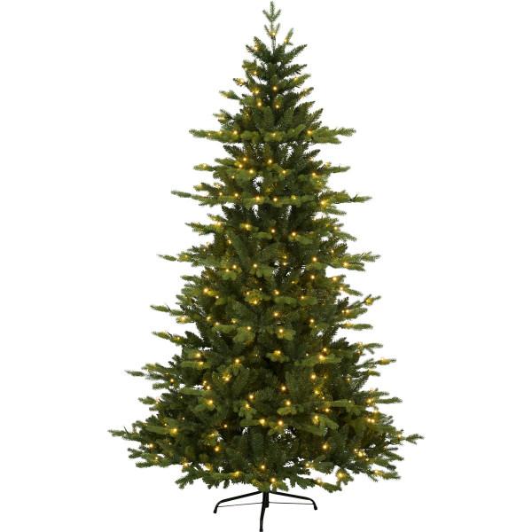 Weihnachtsbaum künstlich Larvik H180cm B120cm 270 LED, grün outdoor-