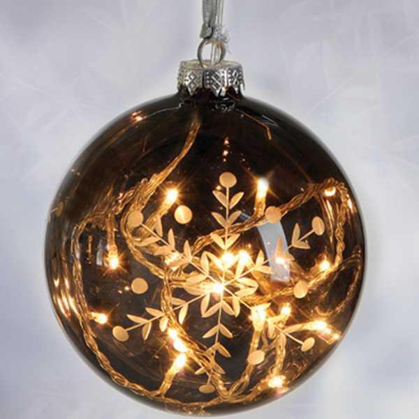 Beleuchtete Weihnachtskugeln.Weihnachtskugeln Dekorativem Glas Ledlichtkugeln Festlichen