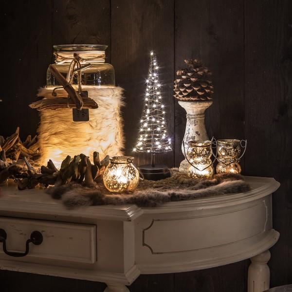 Santa´s Tree M Weihnachtsbaum H32 cm 60 LED Batteriebetrieb