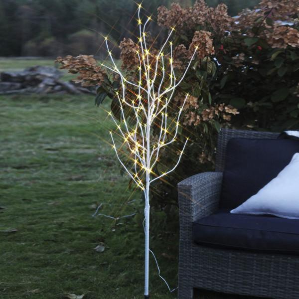 Tobby Baum weiss, Höhe 150 cm, 120 LED warmweiss, Ausstellungsmodell