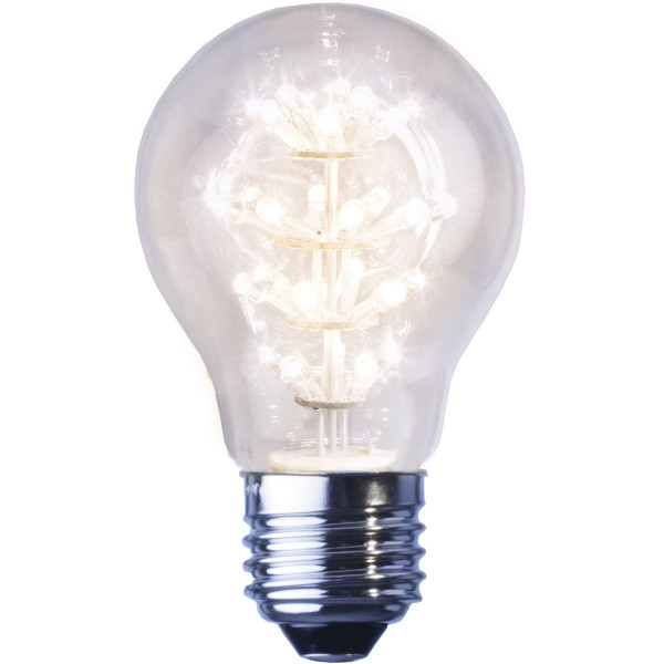 Birne LED klar, Tropfenform, Fassung E27, 230 Volt, 1,4 Watt