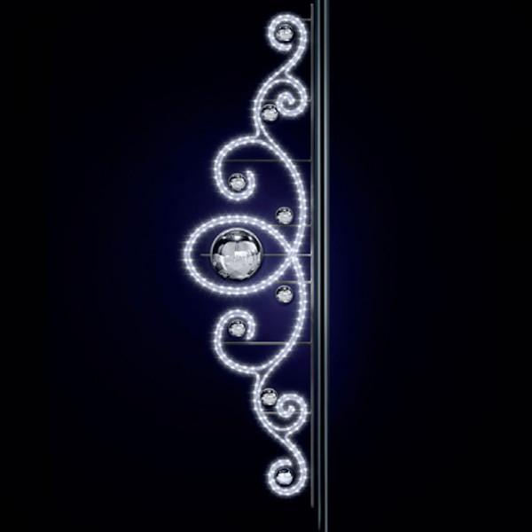 Strassenweihnachtslichter Marcel 280, H280, B80cm, kaltweiss, Pfostenmontage
