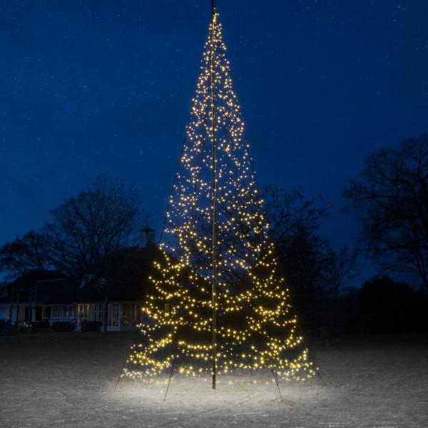 Fairybell Weihnachtsbaum H800cm, 1500 LED, flash für Fahnenstange