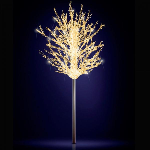 Leuchtbaum Eden 250, H250, B250, L250cm, warmweiss, 5 Äste, 3D, leicht blinkend, ohne Stange