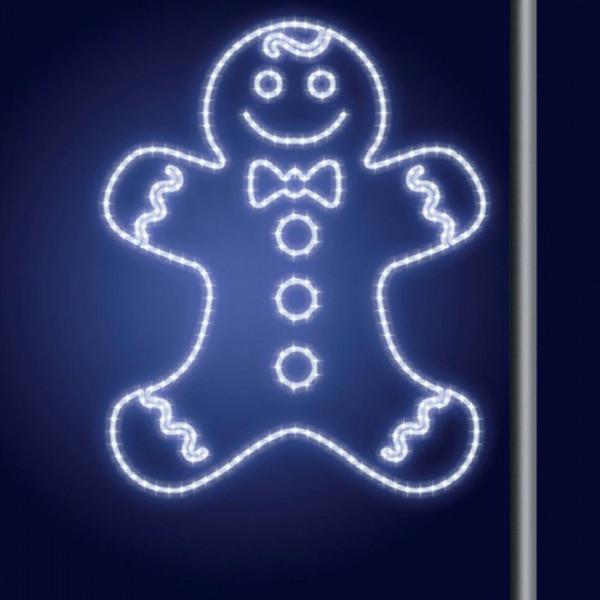 Leuchtsilhouette Momga 100, H100, B85cm, kaltweiss, Pfostenmontage