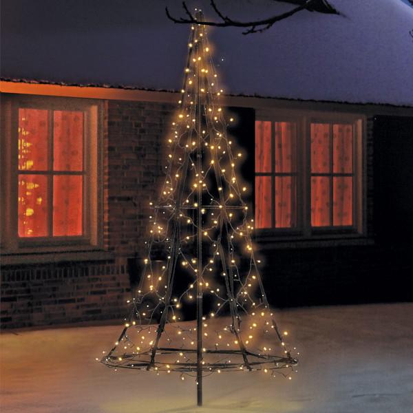 Fairybell Weihnachtsbaum H185cm, 250 LED, mit Mast und Bodenanker