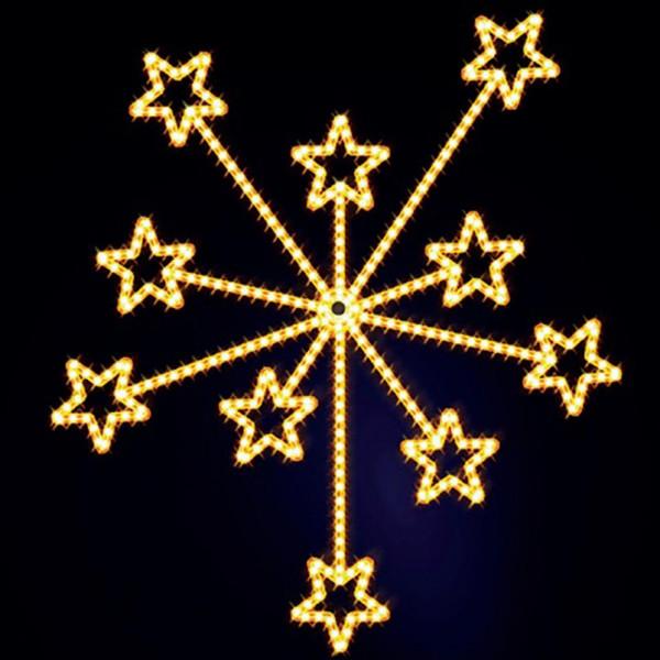 Weihnachtsstern Fireworks 200, H200, B175cm, warmweiss, Wandmontage