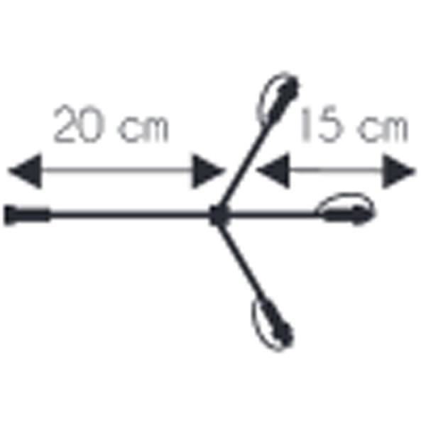 Verzweigung Kabel 230V, mit 3 outlets, 35 cm