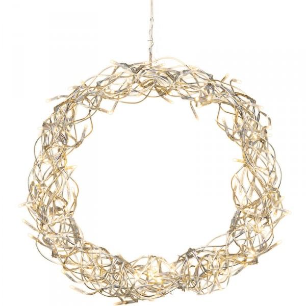 Kranz Curly Ø 30 cm, 80 LED warmweiss