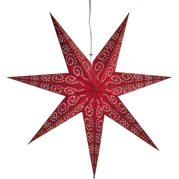 Weihnachtsstern Antique Ø 60 cm rot, aus Papier, indoor