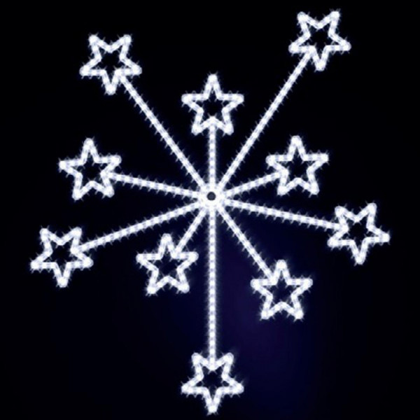 Weihnachtsstern Fireworks 150, H150, B130cm, kaltweiss, Wandmontage