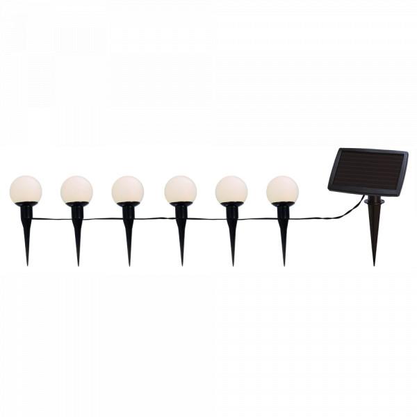 Solar Lichterkette mit 6 Kugeln, LED warmweiss, zum Aufhängen oder Einstecken