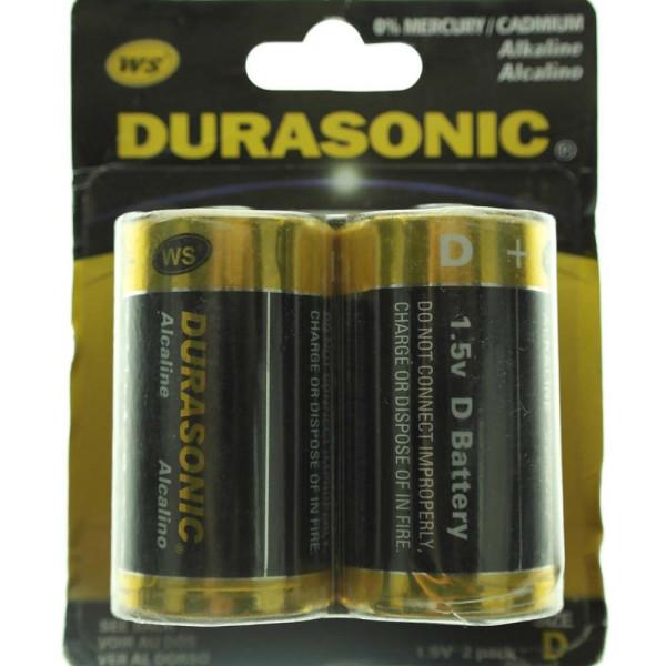 Batterie Set mit 2 x Typ D, LR20 Durasonic 30x56mm