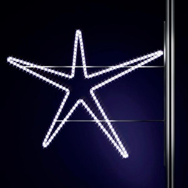 Leuchtstern Attila 110, H110, B140cm, kaltweiss, Kandelaberlichter, Pfostenmontage