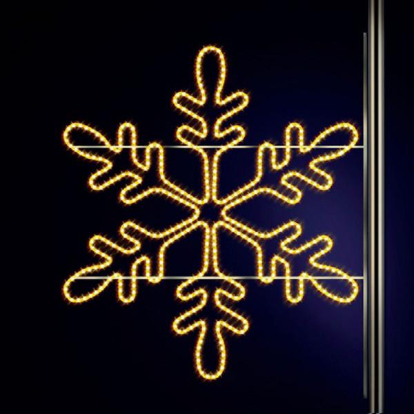 Schneeflocke Snaige 115, H120, B125cm, warmweiss, Kandelaberbeleuchtung, Pfostenmontage