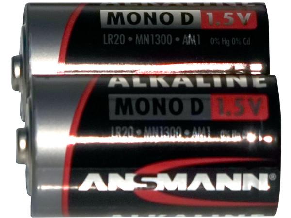 Batterie 2 Stück, Typ D LR20, 1.5 Volt, nicht wiederaufladbar