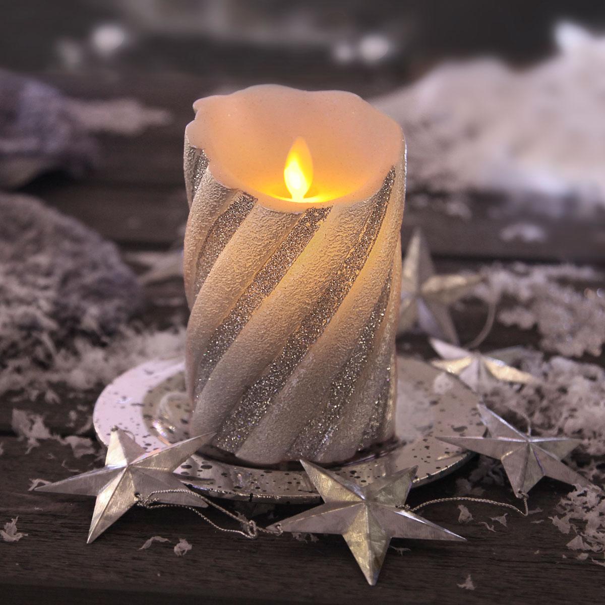 Glitzer-Kerzen sind richtig schön