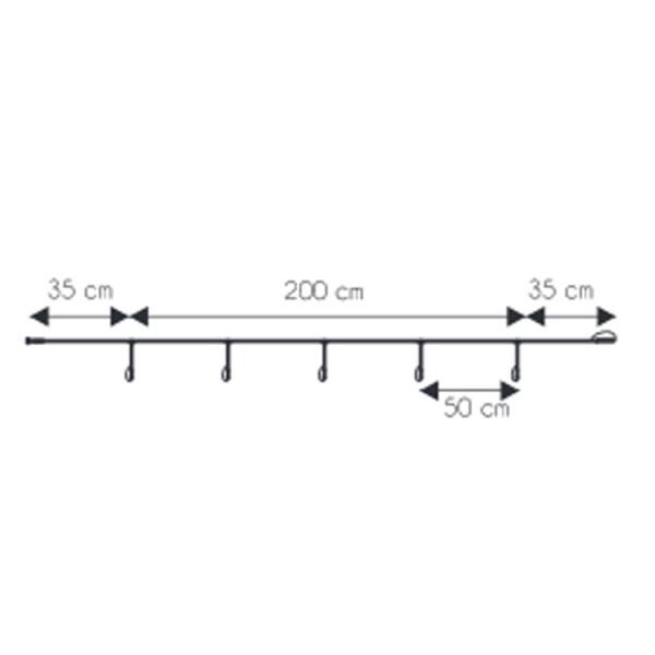 Hauptkabel 230V, 270cm, 5 Ausgänge, weiss