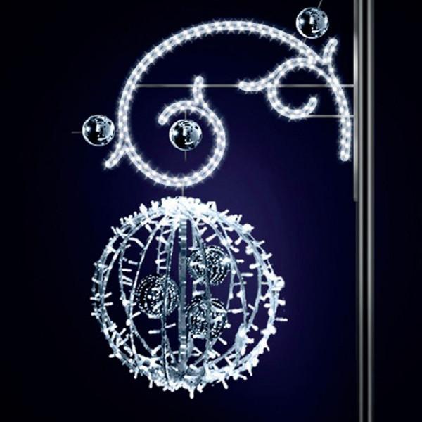 Lichtkugeln Marta 120, H120, B90, L60cm, warmweiss, 3D, Kugeln gold, Kandelaberbeleuchtung