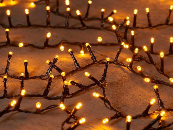 Ivy-Lichterkette, Kabel schwarz, 1200 LED, 26m, Timer, nicht ausbaubar