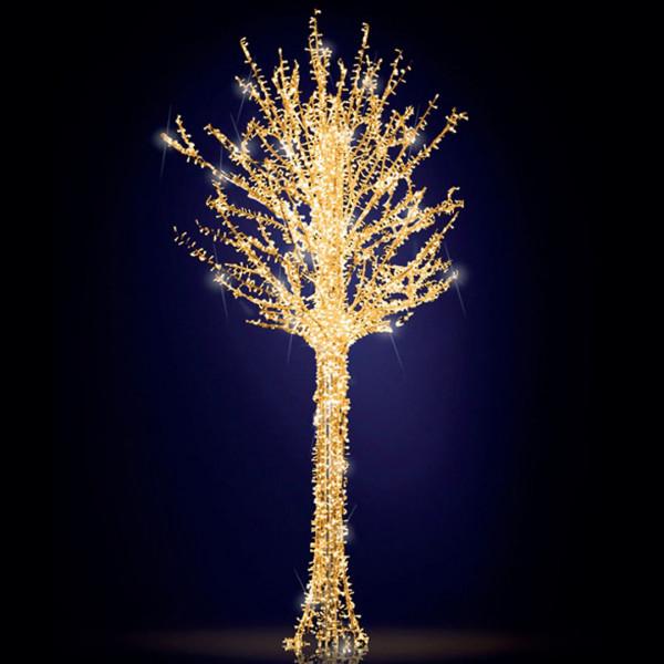 Leuchtbaum Eden Tree 250, H500, B250, L250cm, warmweiss, 5 Äste, 3D, leicht blinkend, mit Stange
