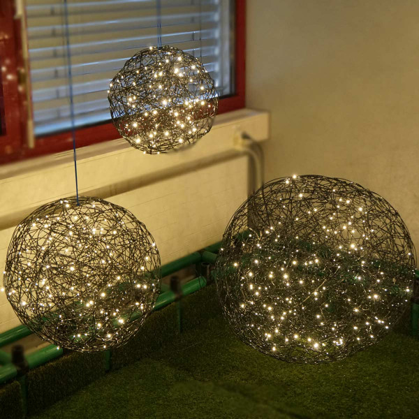 Leuchtkugeln Trilogie Galax Set 3 Kugeln schwarz 450 LED