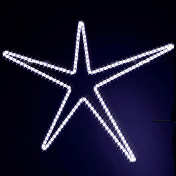 Leuchtstern Attila 110, H110, B140cm, kaltweiss, Montage an